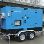 160 kVA-es Iveco motoros járműves áramfejlesztő aggregát