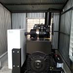 200 kVA-es IVECO motoros automatikus áramfejlesztő aggregát konténerbe telepítve