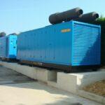 2 db 700 kVA-es áramfejlesztő aggregát